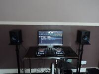 Pair Of PreSonus Eris 5 Active Monitors With Stands