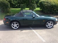 Mazda mx5 ,metallic green low mileage ,full mot new brakes and tyres,sills done