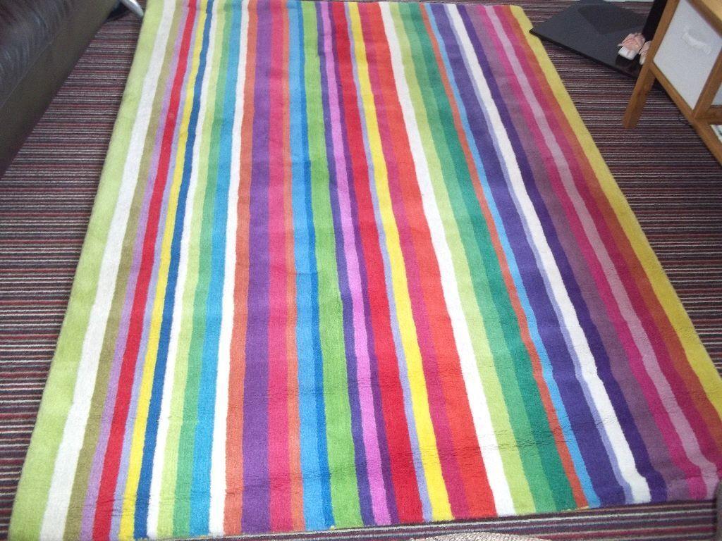 Ikea Strib Rug 100 Wool 200x140cm