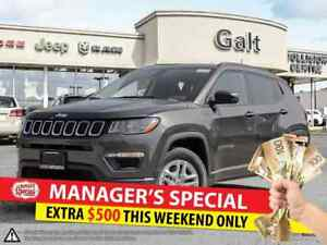 2017 Jeep New Compass SPORT | BACK UP CAM COLD WEATHER GRP