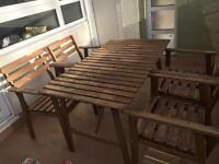 Ikea outdoor table and 4 chairs