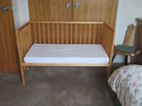 Mothercare Hertford Cot and Mattress. Only used at grandma's for weekly visits. Very good condition.