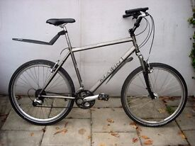 Mens Mountain/ Commuter Bike by Marin, Silver, Cro-Mo Frame, JUST SERVICED / CHEAP PRICE!!!!!!!!!!!!