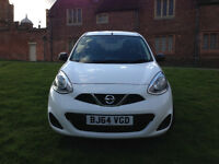 Nissan Micra 1.2 Petrol 5 Door White Very Low Mileage