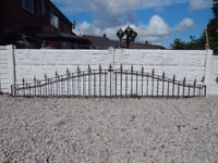 wrought iron railings / metal fence / wall topper / driveway / garden / patio / steel fence / iron