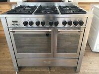 Kenwood dual range cooker 6 hob gas burners 2 electric ovens
