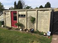 FREE Concrete Garage 10ft x 20ft with up & over door