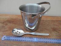 Ice bucket and spoon