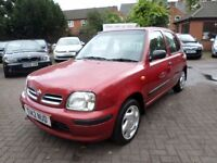 NISSAN MICRA GX, AUTOMATIC 1999 (T REG) SMALL AUTO, BARGAIN, FULL SERVICE HISTORY UP TO DATE