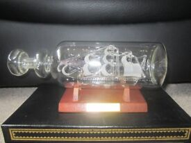 Victory Glass Ship in a Bottle