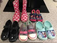 5 pairs of girls shoes size 8-9 CLARKS, NEXT