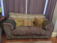 DFS sofas in grey soft cord