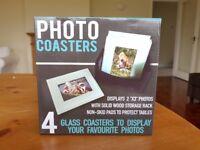 New Glass Photo Coasters BNIB