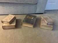 Wooden fake books/ secret storage
