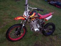 Clean 250 dirtbike