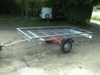 10X5 UNBRAKED FLATBED GOODS TRAILER NICE LIGHTWEIGHT TRAILER......