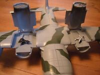 ARMED AIR FORCES PLANE WITH LITTLE JETS STORED IN THE POP UP ENGINES