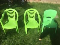 3 kids plastic chairs