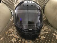 AVG black motorcycle helmet size 58