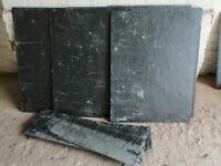6 black slate roof tiles -38 x 50
