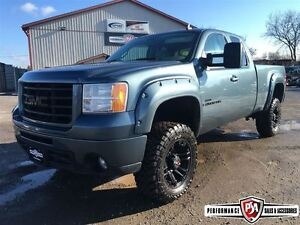2007 GMC SIERRA 2500HD SLE 3 inch R/C LIFT WHEEL/TIRE PACKAGE!!