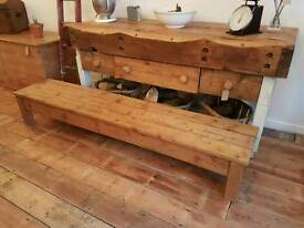Pine coffee table/ unit
