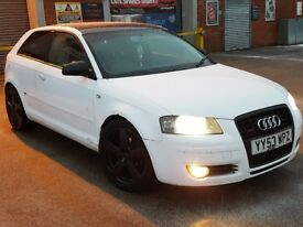 Audi A3 2.0 Tdi S Line Facelift Wrapped In White Comes With Mot & Full V5 PX To Clear Bargain £1395