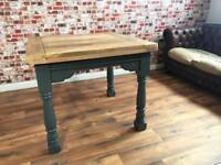 Extending Painted Folding Hardwood Rustic Reclaimed Kitchen Dining Table - Delivery Available