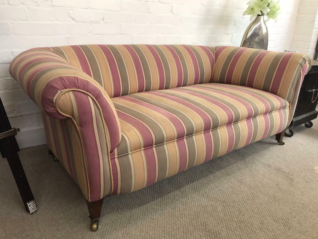 Stunning Antique Edwardian Chesterfield Sofa Can Deliver In West