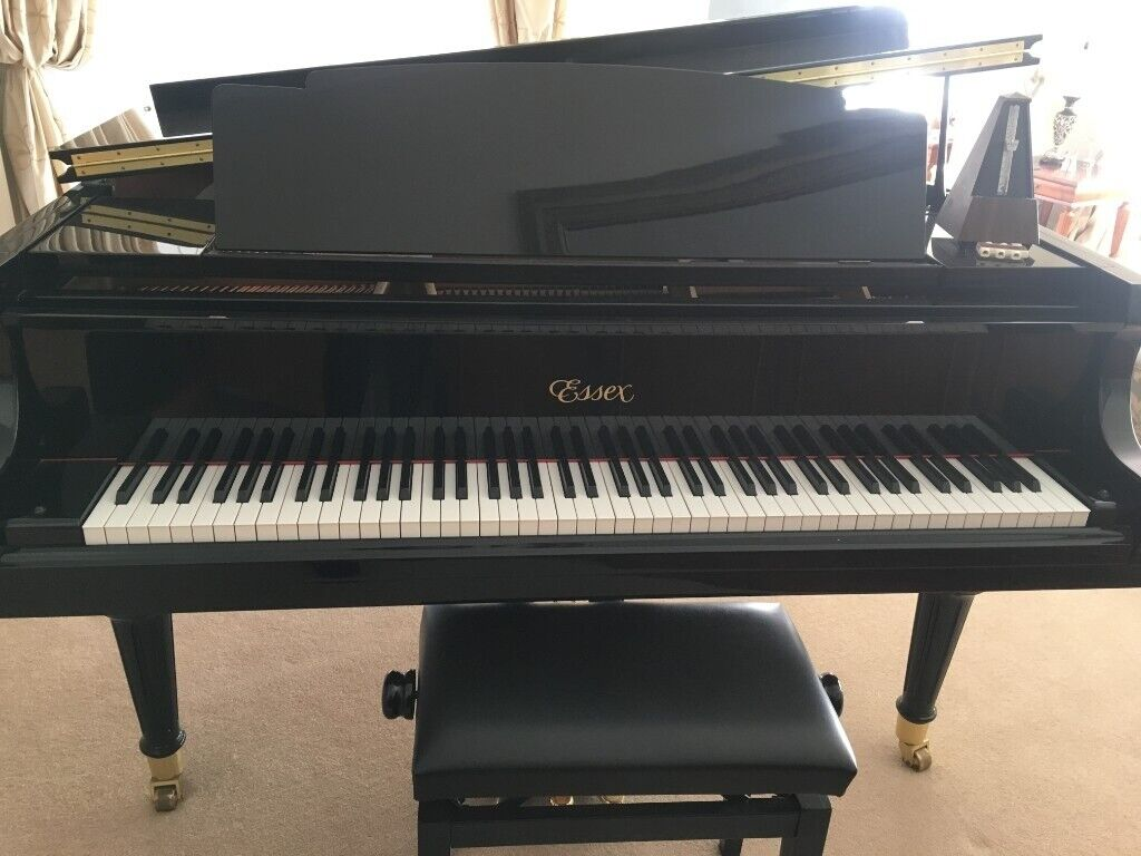 Essex Grand Piano By Steinway Model Egp155 Ebony Case Stool Excellent Condition In East End Glasgow Gumtree