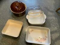 OVEN TO TABLEWARE BUNDLE ALL washed and perfect NO chips etc. BARGAIN price thanks 😊