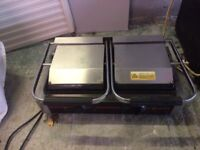 Panini Grill Toaster Sandwich Maker, Commercial Double Contact 3,6 KW Electric