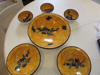 Tunisian - Large Bowl set - with Olive Design