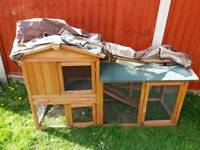 Rabbit/guinea pig hutch and cover