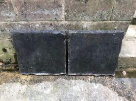 Stone/slate effect slabs