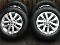 "Brand New Genuine 16"" VW Transporter T6 T5.1 T5 Alloy Wheels Hankook Tyres"