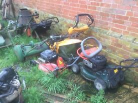 Lawn mower spares etc mountfield hayter Briggs and Stratton partner