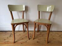 Vintage Thonet Style BAUMANN Bentwood Cafe Bistro Dining Chairs 50s Mid Century