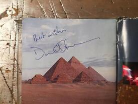 David Gilmour Signed Dark Side Of The Moon Pink Floyd CD