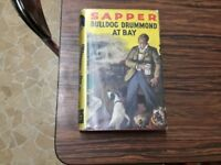 Sapper bulldog Drummond at bay 1937 hardback dustjacket GC