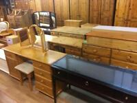 Quality used solid wood / pine dressing table / desk