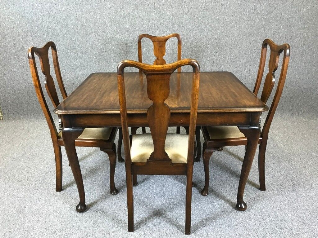 Astounding Extendable Mahogany Dining Table 4 Chairs Antique Queen Anne Style Delivery Available In Winterton Lincolnshire Gumtree Download Free Architecture Designs Scobabritishbridgeorg