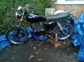 Herald HMC 125 (Suzuki GN125 Build café Racer) almost complete project.