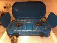 Camping gas duel burner stove