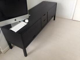 Ikea Long Black Wooden Sideboard