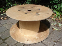 Wooden Reclaimed Cable Reel/Drum,Table, 60cm x 31cm Upcycled Project