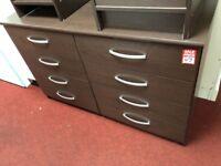 4+4 drawer sideboard - brown
