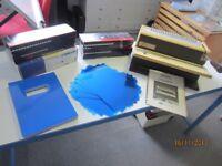 GBC binding machine and supplies