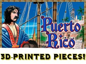 Puerto Rico The board game 3D PRINTED PIECES.*SPECIALLY DESIGNED**UNPAINTED*