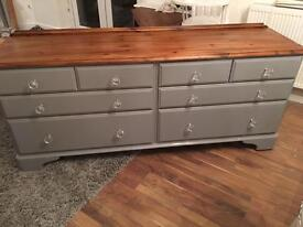 Ducal pine Large chest of drawers